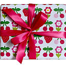 Cherry And Strawberry Wrapping Paper