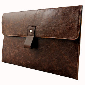 Brown Leather 11 Inch Macbook Air Case - laptop bags & cases