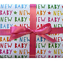 New Baby Star Wrapping Paper