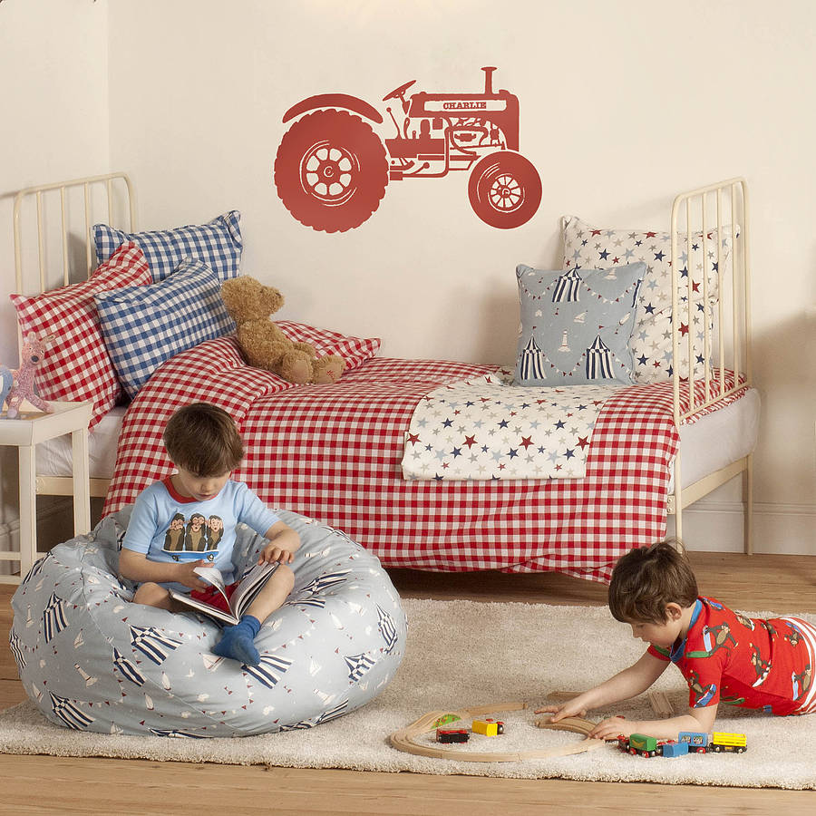 Personalised childrens tractor wall sticker by oakdene designs personalised childrens tractor wall sticker amipublicfo Gallery