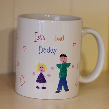 Child's Hand Drawn Design Your Own Mug