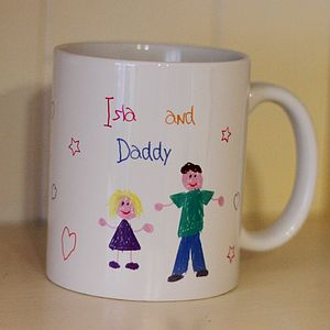 Child's Hand Drawn Design Your Own Mug - mugs