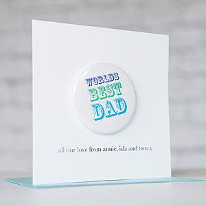 Personalised 'Worlds Best Dad' Badge Card
