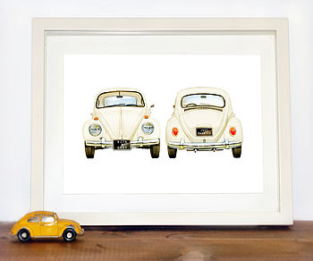 Personalised VW Beetle car Print