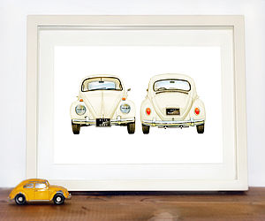 Personalised VW Beetle car Print - art & pictures
