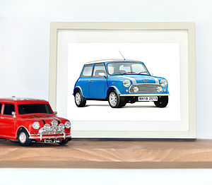 Personalised Mini Cooper Print