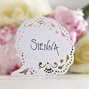 Freestanding Lace Birds Place Cards