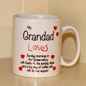 Personalised 'Grandad Loves' Mug - kitchen