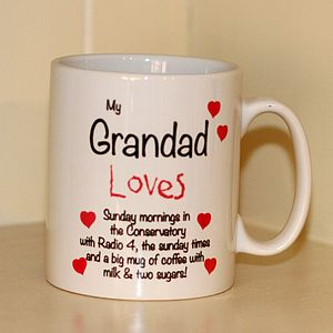 Personalised 'Grandad Loves' Mug - mugs