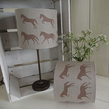 Galloping Horses Irish Linen Lampshade