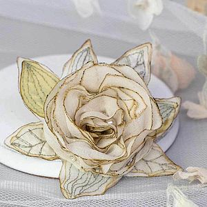 Vintage Inspired Silk Rose - pins & brooches