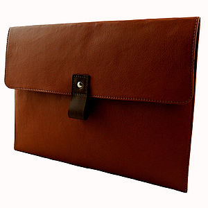 Tan Leather 13 Inch Macbook Air Case - laptop bags & cases