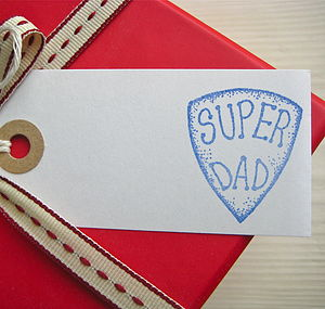 'Super Dad' Gift Tag - christmas labels & tags