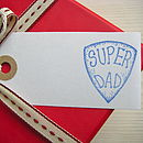 'Super Dad' Gift Tag