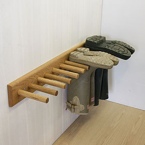 Oak Welly Rack - art & decorations
