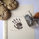 Baby Or Child Life Size Handprint Stamp
