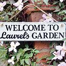 Personalised Garden Welcome Sign