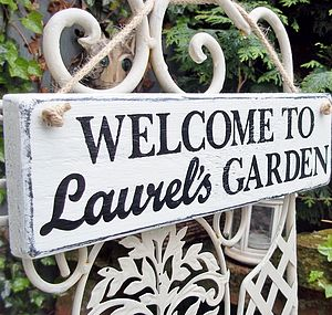 Personalised Vintage Style Garden Sign - outdoor decorations