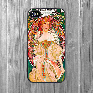 Art Nouveau Champenois IPhone Case - tech accessories for her