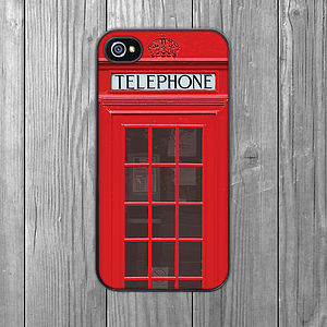 Telephone Box iPhone Case - phone covers & cases