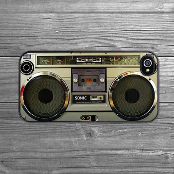 iPhone case boom box