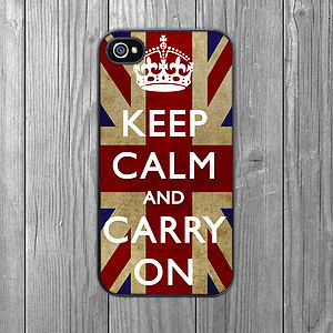 'Keep Calm' Grunge IPhone Case - phone & tablet covers & cases