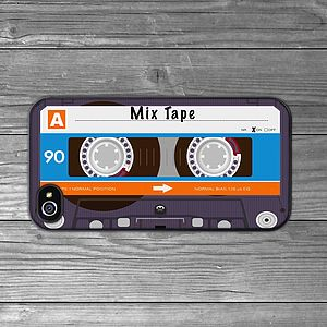 Personalised Cassette Tape iPhone Case - birthday gifts
