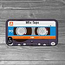 iPhone case blue cassette tape