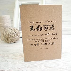 Love Quote Card - wedding cards & wrap