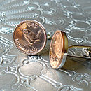 70th Birthday Coin Cufflinks