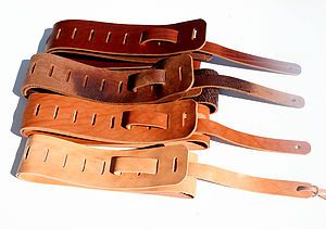 Personalised 'Yasgur' Leather Guitar Strap - music-lover