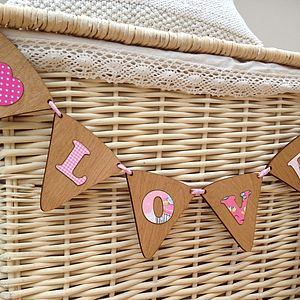 Personalised Wood & Fabric Bunting - decorative letters