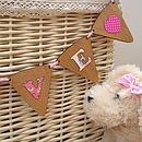 Personalised Wood & Fabric Bunting