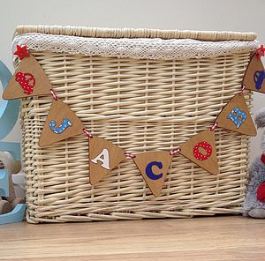Personalised Child's Wooden Bunting - weddings sale