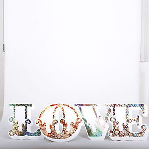 Decorative 'Love' Textural Letters