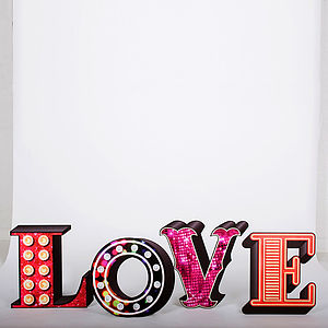Theatrical 'Love' Decorative Letters