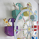 '3D' Big Wheel Nursery Art