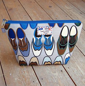 Wingtip Men's Shoe Wash Bag - make-up & wash bags