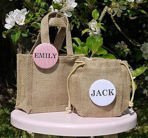 Personalised Badge And Party Gift Bag