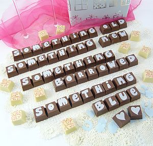 Party & Wedding Chocolate Letter Messages - personalised