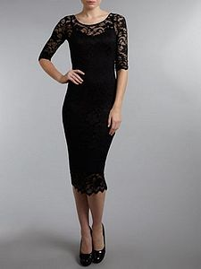 Lace Sleeve Dress - dresses