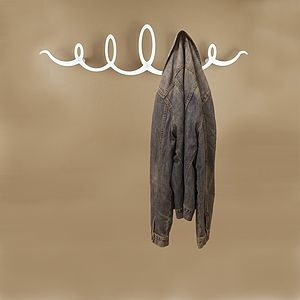 Squiggle Coat Rack By The Metal House - laundry room