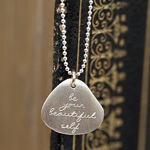 Personalised Handwritten Message Silver Pendant - jewellery gifts for mothers