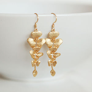 Cascading Flower Earrings - earrings