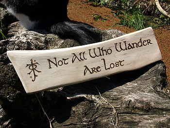 The Hobbit Hand Engraved Wooden Sign