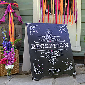 Urban Chalk Wedding Sandwich Board