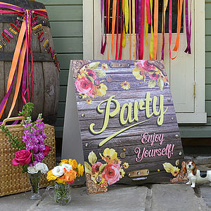 Lazy Hazy Wedding Sandwich Board - outdoor decorations