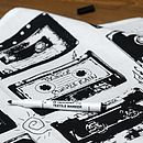 Write Your Own Playlist Cassette Tea Towel