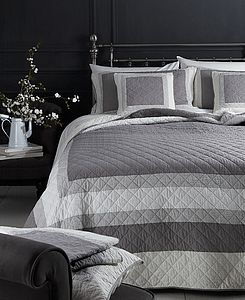 Block Coloured Double King Quilt - bed, bath & table linen
