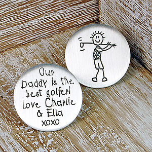 Personalised Silver Golf Ball Marker - gifts for golfers